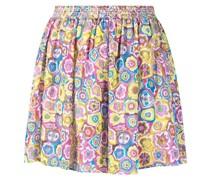 floral-print wide-leg shorts
