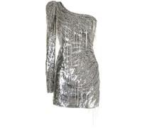 Einschultriges Kleid mit Verzierungen