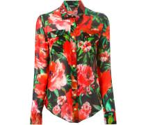 Seidenhemd mit Blumen-Print