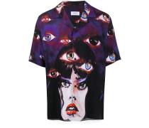 Hemd mit Augen-Print