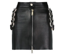 mini skirt with belt embellishments
