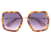 Oversized-Sonnenbrille in Schildpattoptik - men