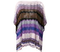 patterned poncho - women