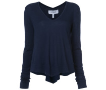 Long Sleeve Tiered V-Neck Pullover