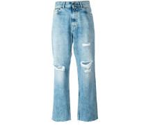Jeans in Distressed-Optik - women - Baumwolle
