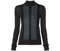 striped detail slim-fit jumper