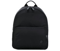 - logo backpack - men - Leder/Acryl/Polyamid