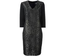 Jacquard-Kleid mit V-Ausschnitt - women