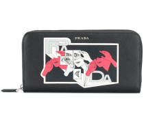 graphic print wallet
