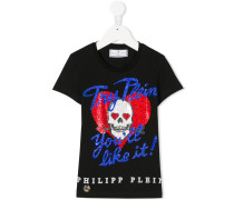 'Try Plein You'll Like It' T-Shirt mit Nieten