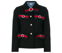 Tweed-Jacke mit Knebelverschluss