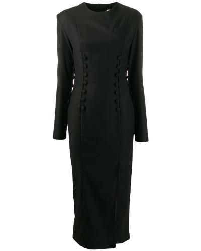 Schmales Kleid mit Knopfverschluss