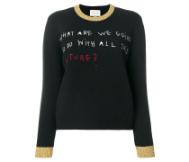Coco Capitán embroidered knit top