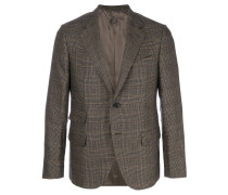 formal check blazer