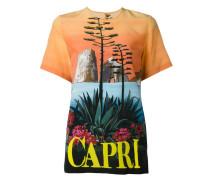 """Seiden-T-Shirt mit """"Capri""""-Print"""