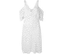 - 'Cold Shoulder' Kleid mit Punkten - women
