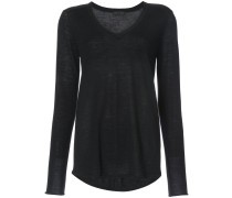 Cashmere Raw Trim V-Neck Sweater