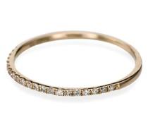 14kt Goldring mit Diamant