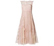 frill embellished lace dress