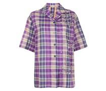 check-print short-sleeve shirt