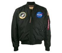 'NASA' Satin-Bomberjacke