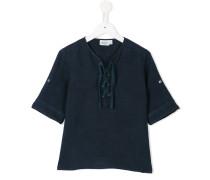 Leinen-T-Shirt mit Schnürung