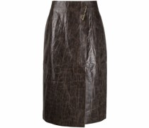 Delores faux-leather skirt