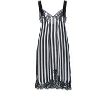 Gestreiftes Kleid mit Spitzeneinsätzen