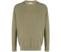 Waffelstrick-Pullover im Distressed-Look