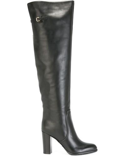 sergio rossi damen overknee stiefel mit blockabsatz 40. Black Bedroom Furniture Sets. Home Design Ideas