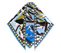 mountain scenery print scarf