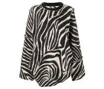Oversized-Pullover mit Zebramuster