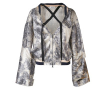 - shredded wide sleeve jacket - women