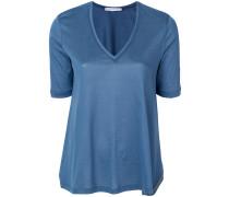 side slits shortsleeved blouse