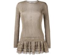 Pullover mit gerüschtem Saum