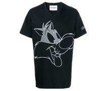 T-Shirt mit Sylvester-Stickerei