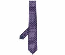 silk Gancini-embroidered tie