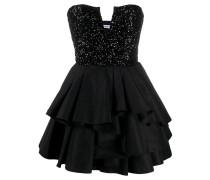 Kurzes Kleid mit Drapierung