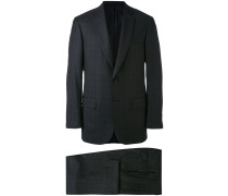 - Karierter Anzug - men - Seide/Wolle - 48