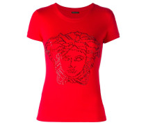 T-Shirt mit Medusa-Applikation - women
