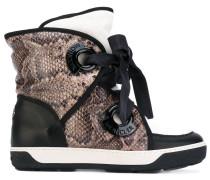- Stiefel mit Schlangenleder-Print - women