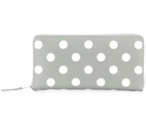 Gepunktetes Portemonnaie mit Reißverschluss