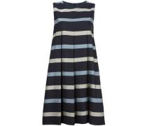 Gestreiftes Kleid mit Faltendetails