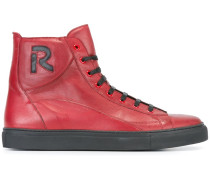 initial patch hi-top sneakers