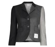 Cropped-Jacke mit Kontrasteinsätzen