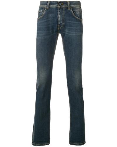 Skinny-Jeans mit Tragefalten
