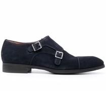 double buckle monk shoes