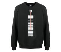 Sweatshirt mit Barcode-Print