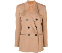 ruched detail double breasted blazer