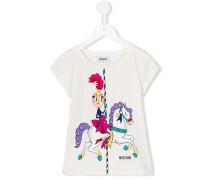T-Shirt mit Karussell-Print